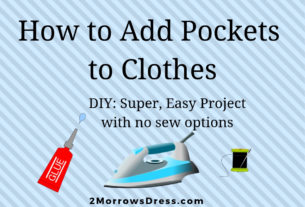 Add Pockets to clothes, Easy no Sew options