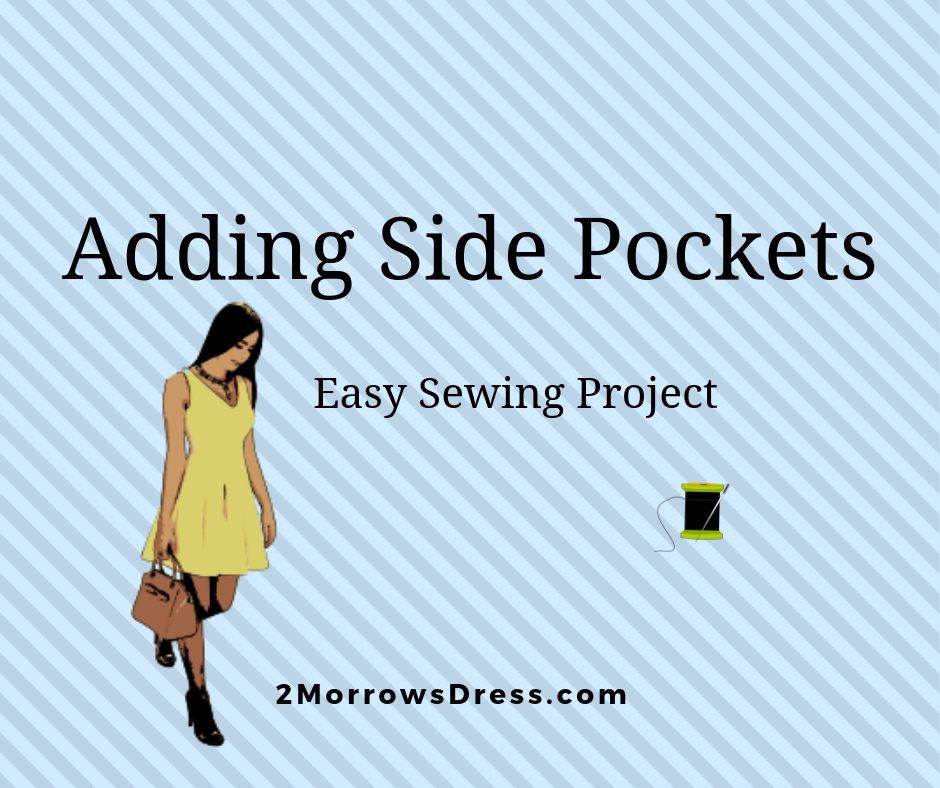 Adding Side Pockets, Easy DIY sewing Project