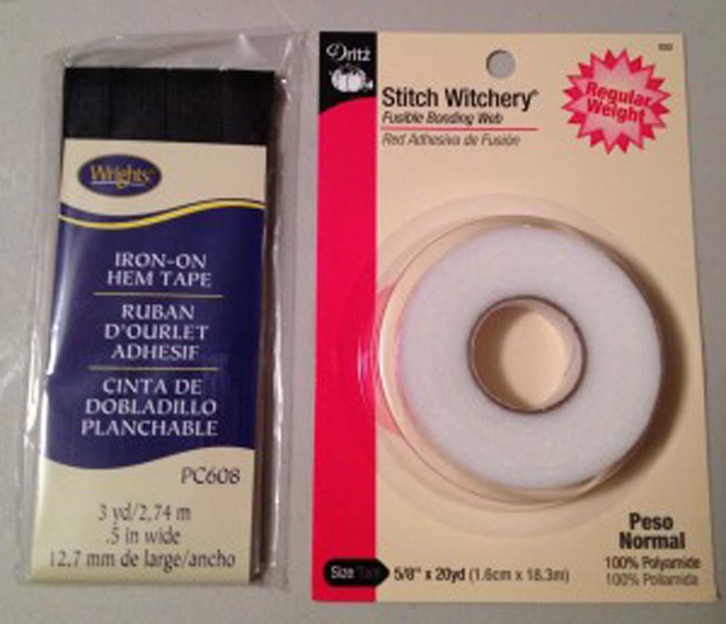 Stitch Witchery fushible tape and iron on tape