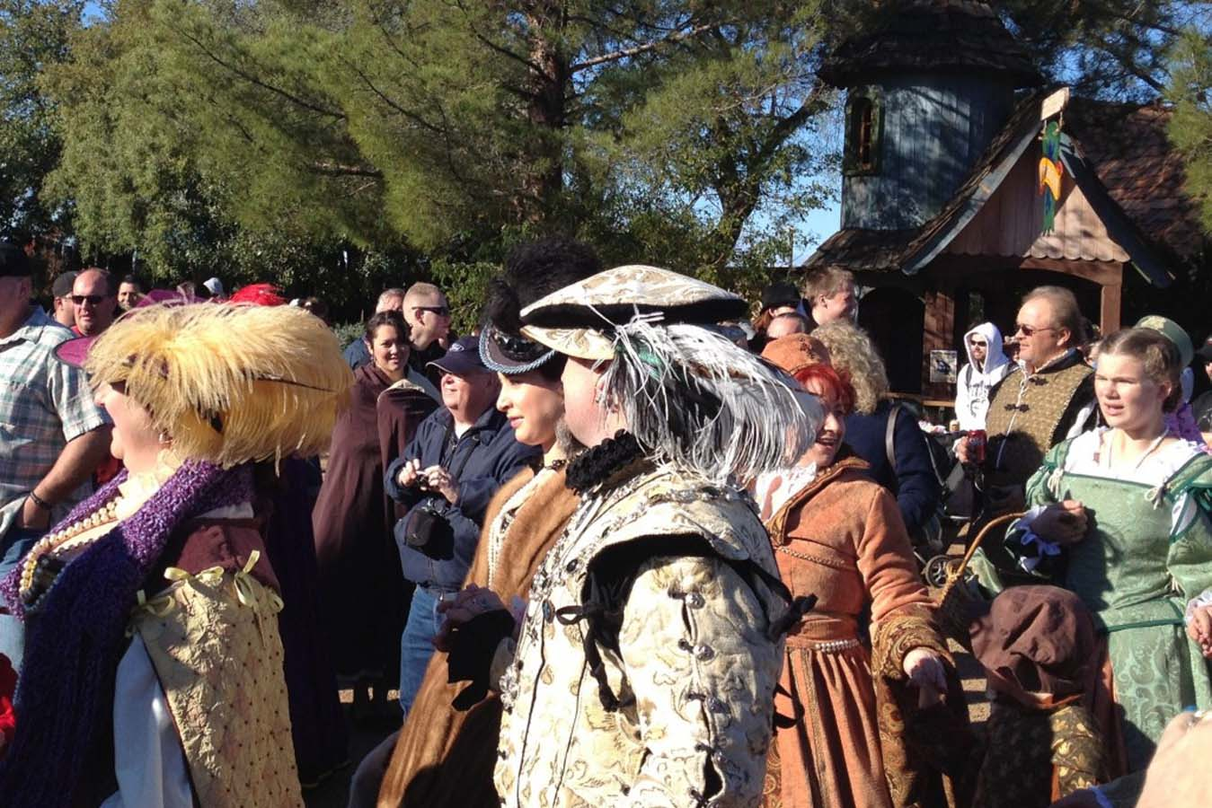 Renaissance Festival outfits with fancy hats
