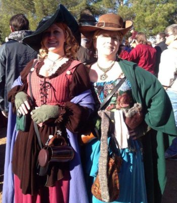 Renaissance Festival common wench outfits complete with hats and gloves