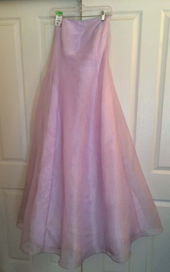 $10 Lilac Ballgown after gentle, cold wash