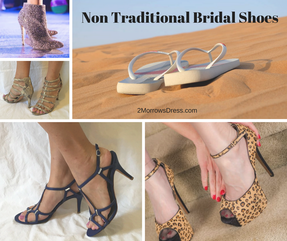 Non Traditional Bridal Shoes Boots Flip Flops