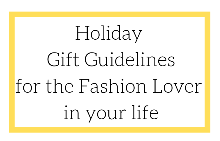 2Morrows Dress Holiday Gift Guidelines for the fashion lover in your life