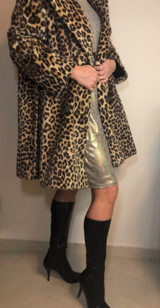 1960's Vintage Leopard print swing coat