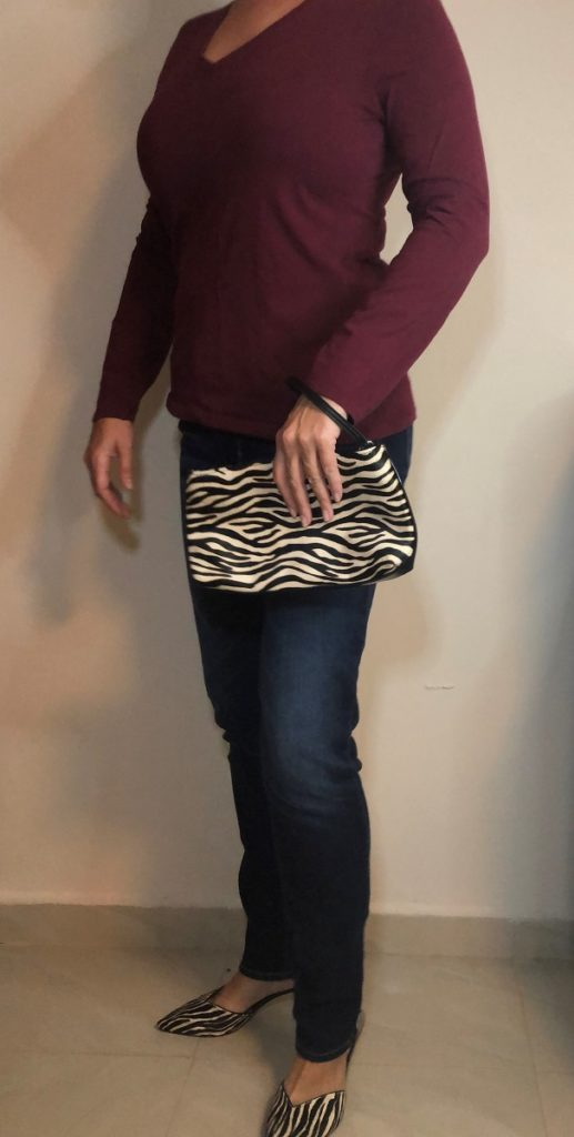 Winter wardrobe jeans with print mules